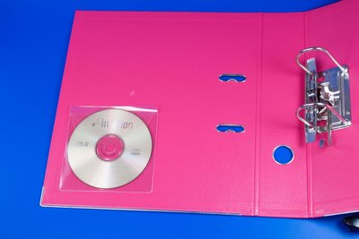 CD-hoes met sluiting - Pochette - PVC - Transparant
