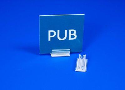 Zelfklevende loodrechte supergrip  - PVC - Afmeting12x15x9mm - Capaciteit min.1mm max.2mm - Transparant