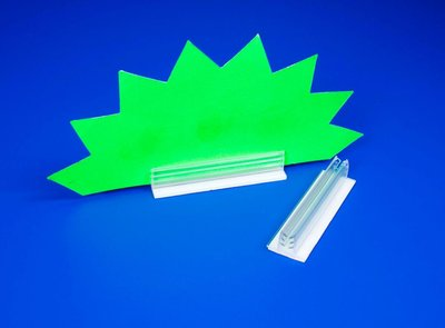 Zelfklevende loodrechte supergrip  - PVC - Afmeting20x75x13mm - Capaciteit min.3mm max.4mm - Transparant