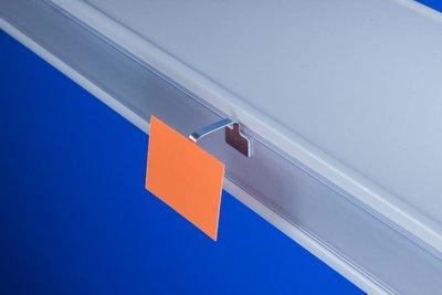 Flexibele Wobbler  - Aluminium - 2 permanente kleefpads 13x13mm - Lengte 75mm