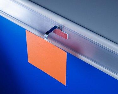 Flexibele Wobbler  - Aluminium - 1 permanente kleefpad/1 verwijderbare kleefpad 30x12mm - Lengte 75mm