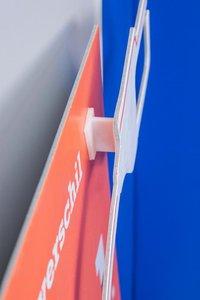 Afstandshouder  - PP - 2 Permanente kleefpads 13x26mm - Hoogte 25mm - Wit